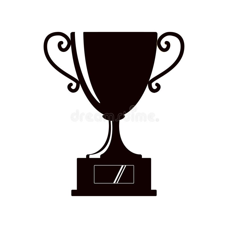 Award icons. Web site. Silhouette of trophy cup on white background. Vector illustration vector illustration