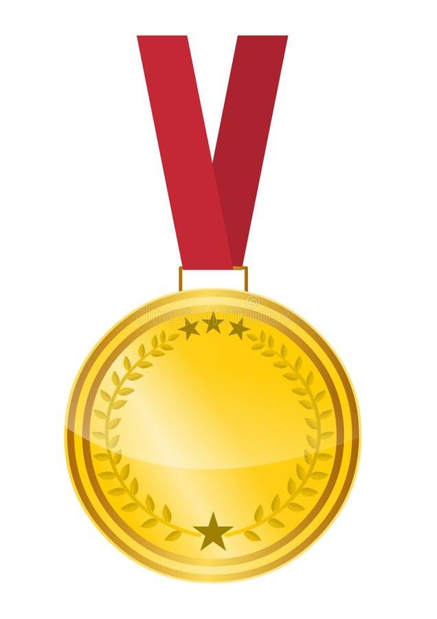 Gold medal vector stock image.Award medal vector isolated on white background. Award medal gold vector stock image isolated on white background vector illustration