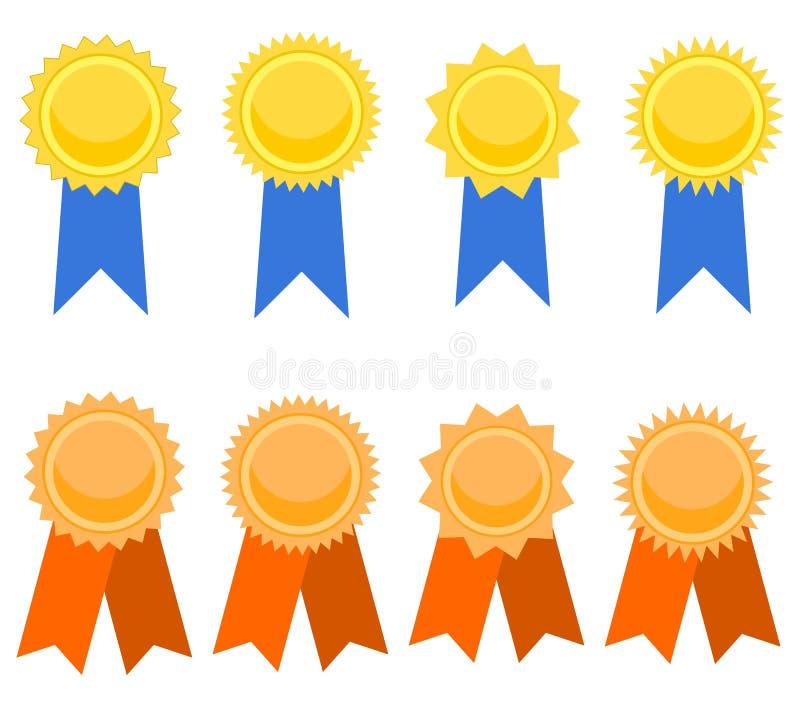 Download Award medal set stock vector. Image of gold, empty, award - 30381030
