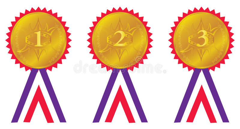 Award medals stock vector. Image of icon, competition ...