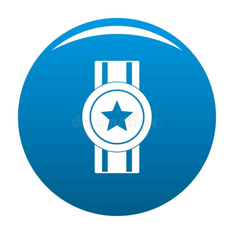 Award ribbon icon blue vector royalty free illustration