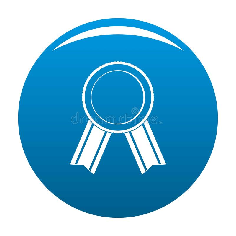 Award ribbon icon blue vector vector illustration