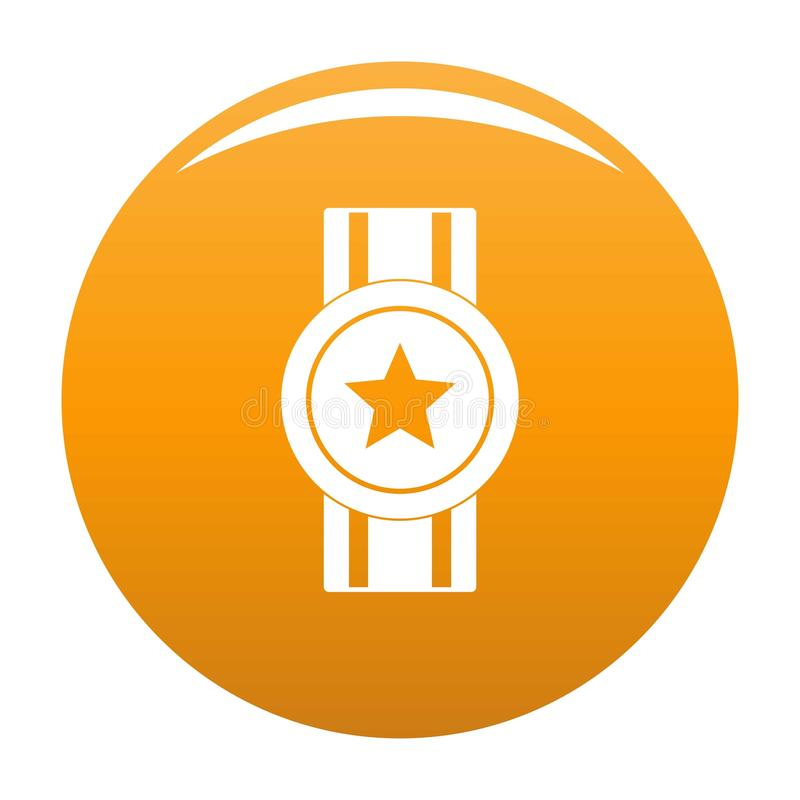 Award ribbon icon vector orange royalty free illustration