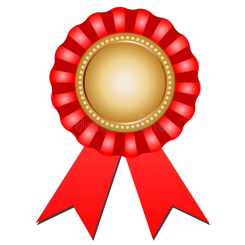 Award Rosette vector illustration
