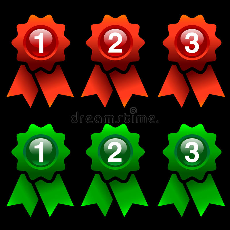 Download Award rosettes stock vector. Image of place, green, mark - 20326916