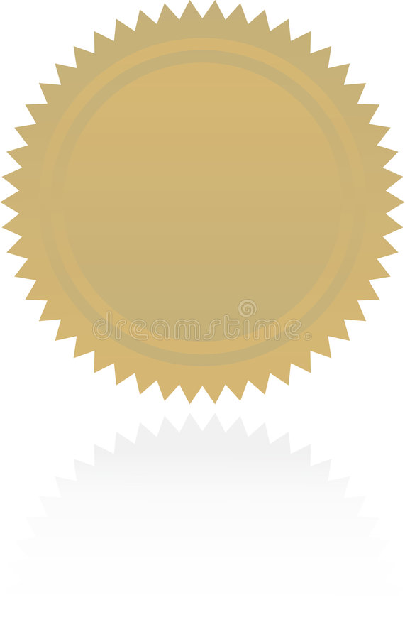 Award starburst. An award or certification starburst royalty free illustration