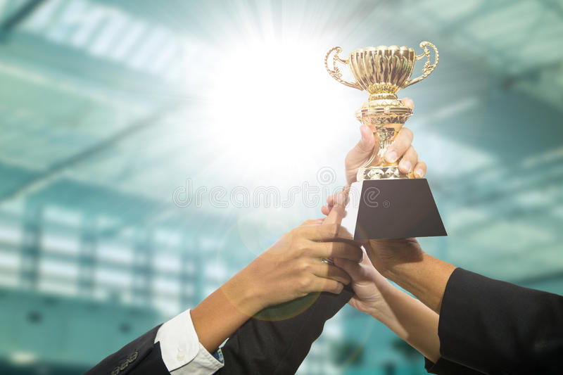 Award trophy stock photography