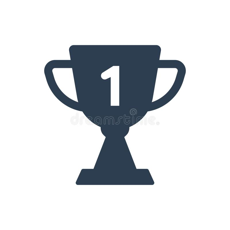 Award trophy icon. Simple Illustration Of A Award trophy icon stock illustration