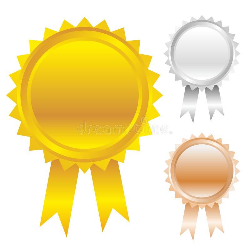 Awards icon set royalty free illustration