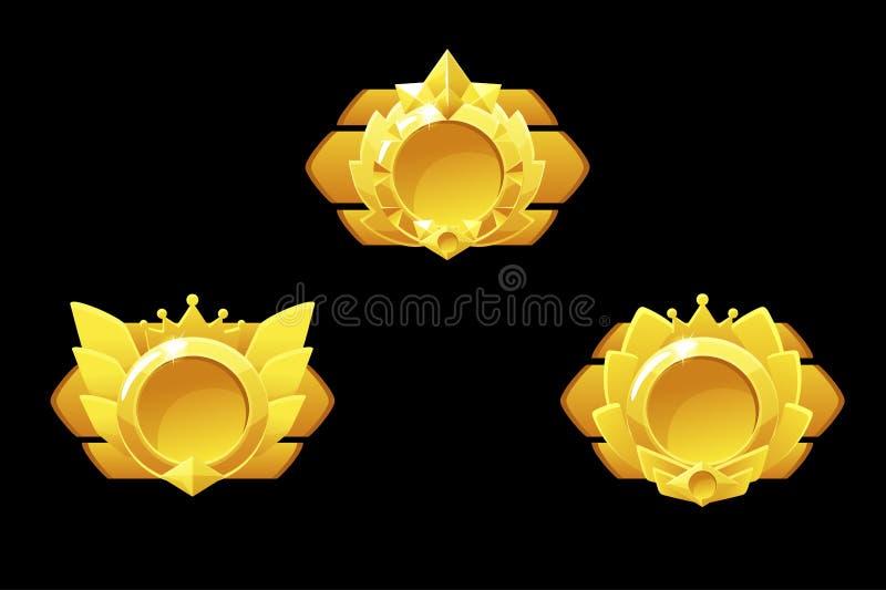 Awards medals for Gui Game. Vector golden template award vector illustration