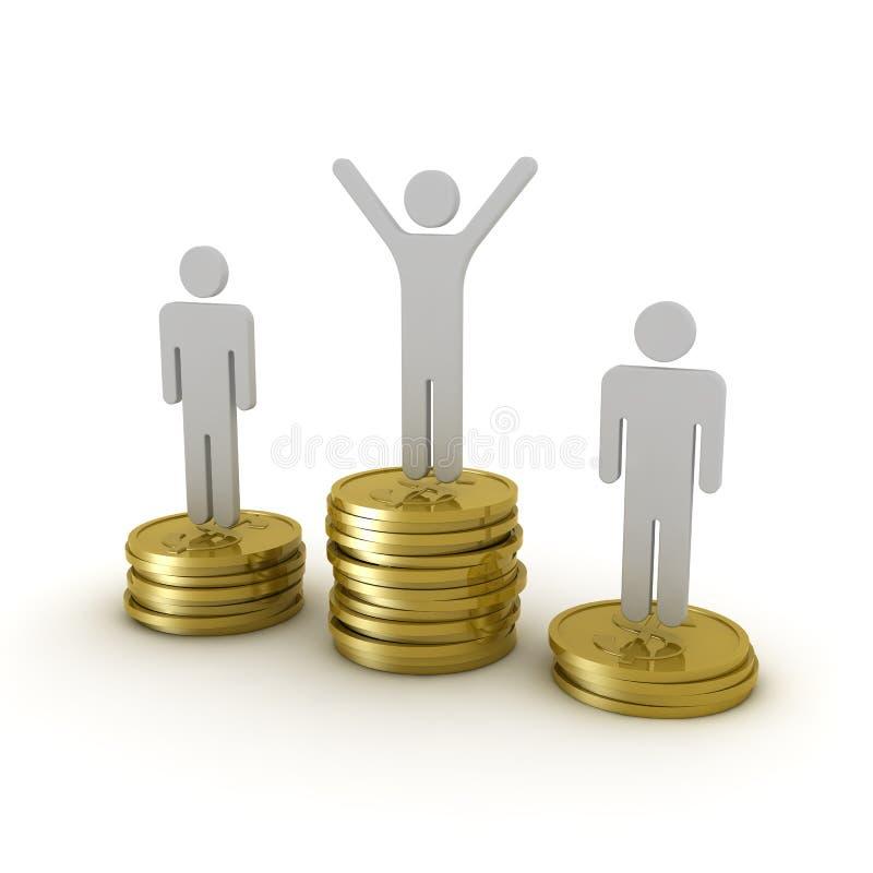 Awards podium money stock illustration