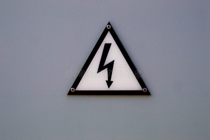 Aware of electricity, warning sign. Closeup of aware sign, Be aware from eletricity stock photos