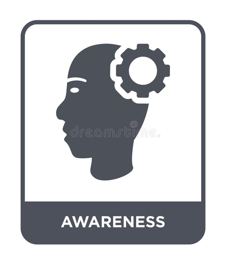 Awareness icon in trendy design style. awareness icon isolated on white background. awareness vector icon simple and modern flat. Symbol for web site, mobile stock illustration