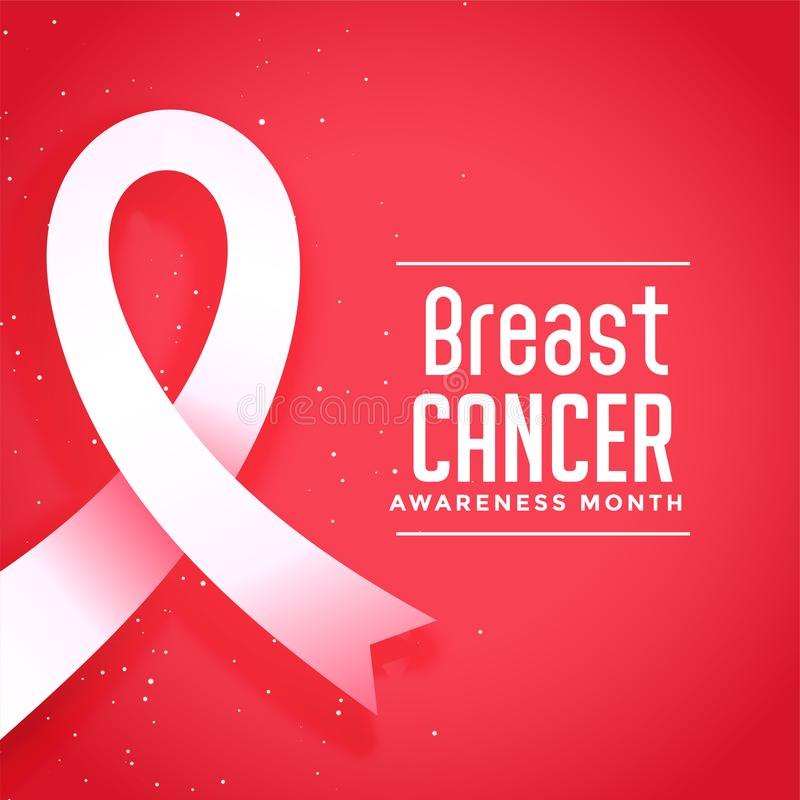 Awareness month for breast cancer disease poster design. Vector royalty free illustration