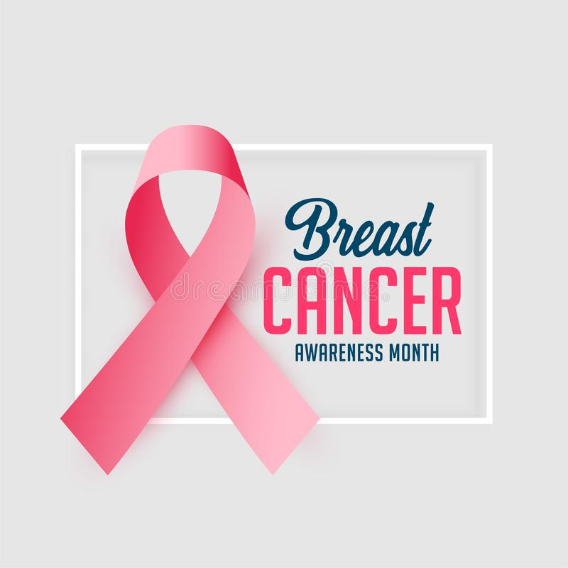 Awareness poster design for breast cancer october month. Vector royalty free illustration