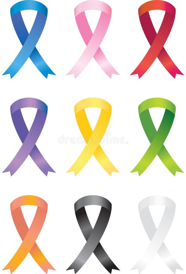 Awareness Ribbon Icons stock illustration
