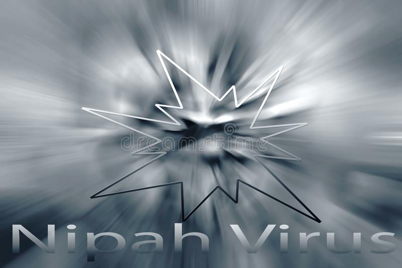 Awarness de virus de Nipah illustration libre de droits