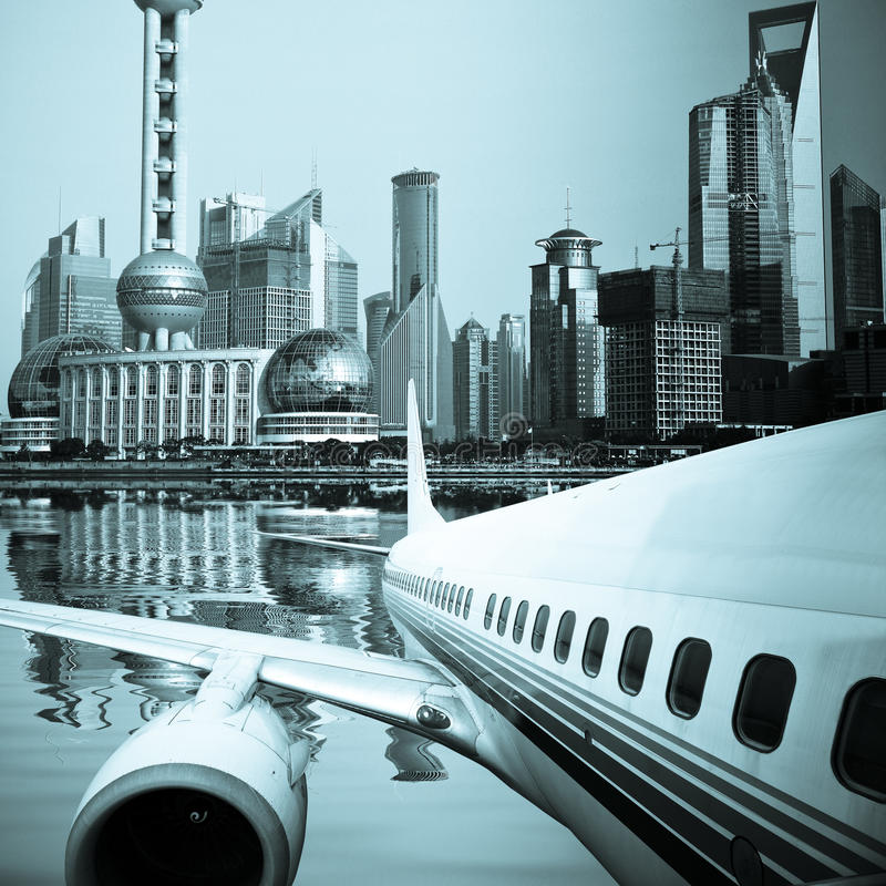 Download Away stock photo. Image of skyline, business, boeing - 13304104