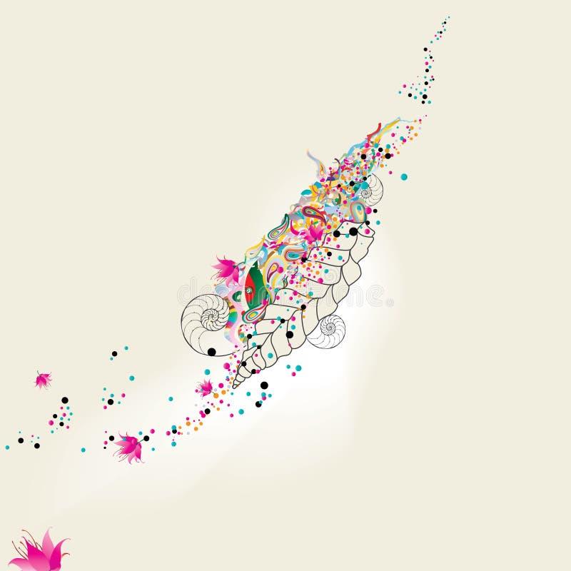 away burna blommor stock illustrationer