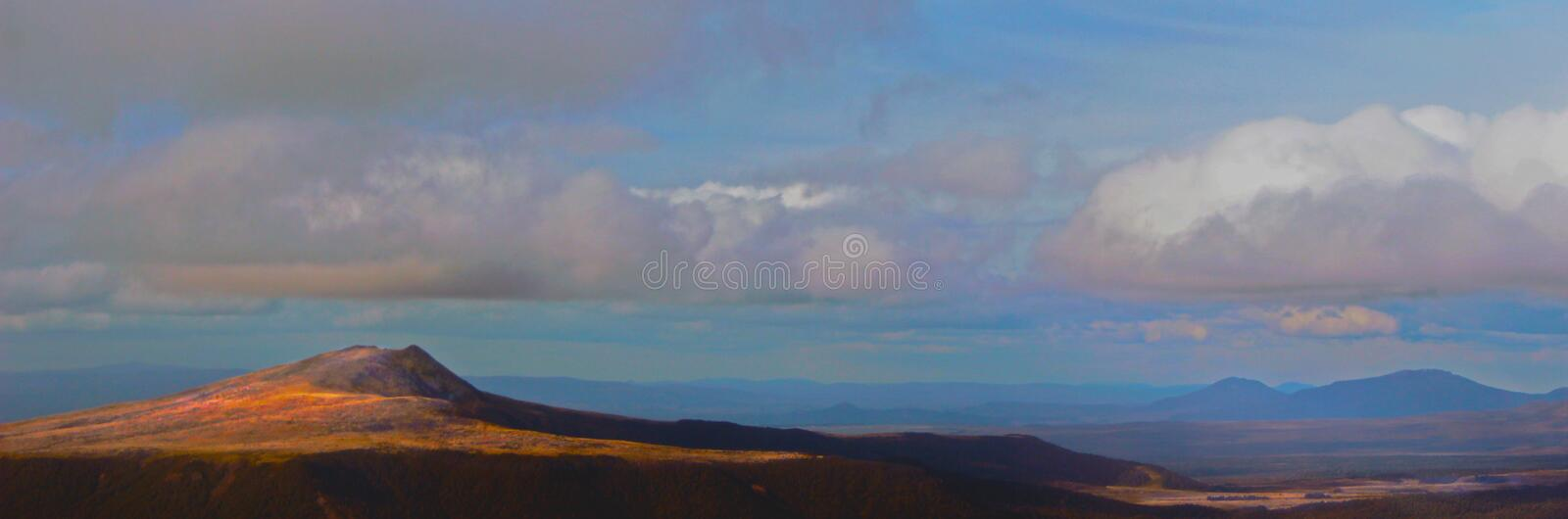 Away, Far away. North Island NZ country side from pilots view stock photography