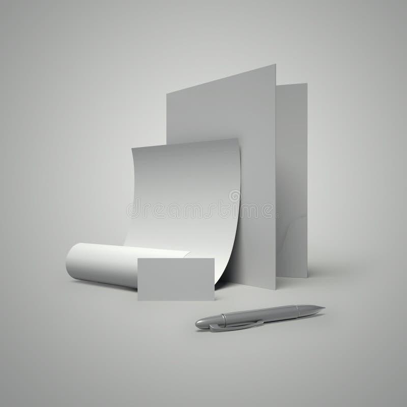 away penna för snittmapppapper vektor illustrationer