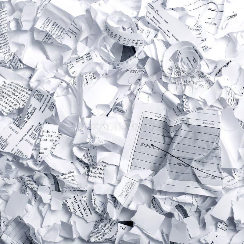 away skrynkligt klart kast för avskrädepapper till royaltyfri foto