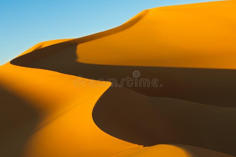 awbari pustynny wydmowy Libya Sahara piaska morze zdjęcie stock