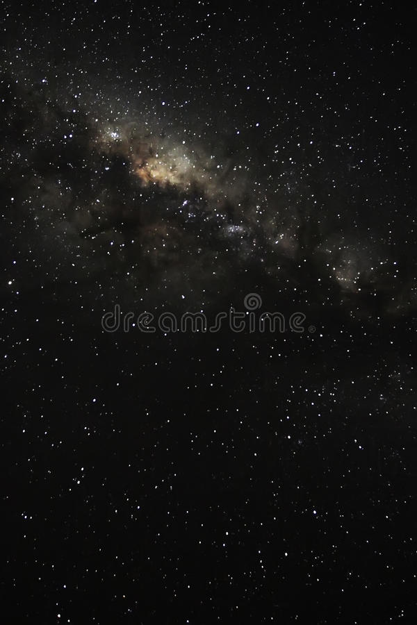 In awe of the milky way. Looking into the milky way on a starry night