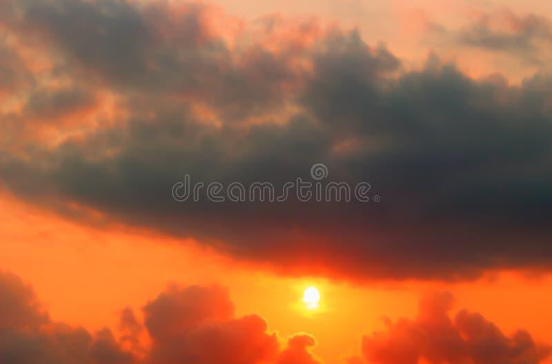 Idyllic evening sky stock photos