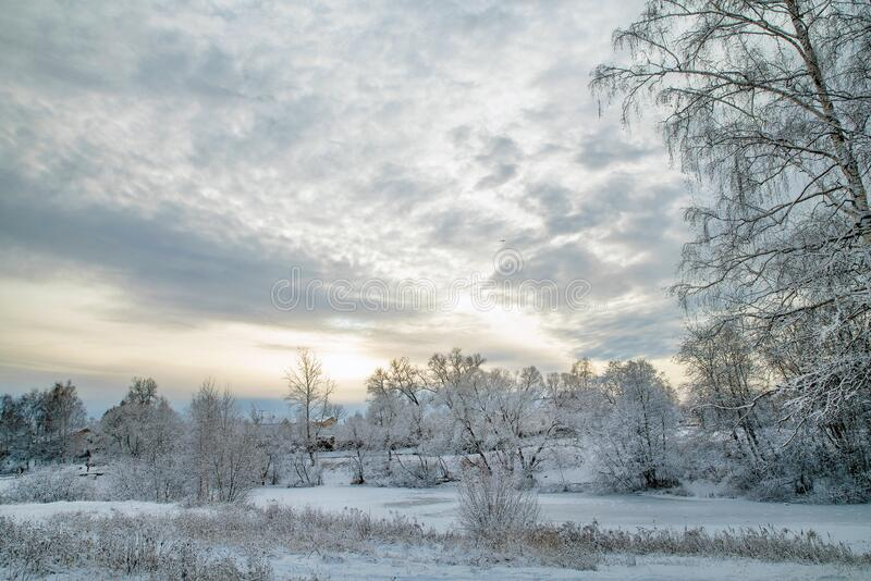 Awe Winter Landscape fotografia stock libera da diritti