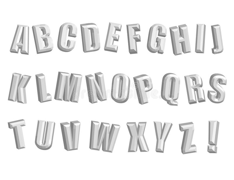 Download Awesome 3D Alphabet! Vector / Clip Art Stock Vector - Image: 21474057