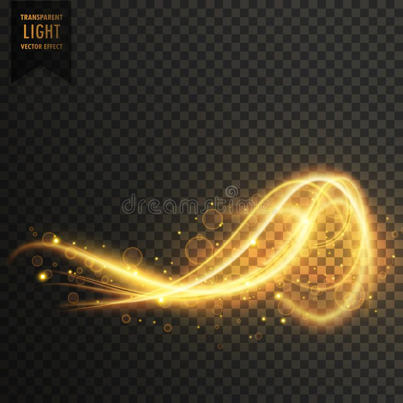 awesome abstract golden light transparent effect vector background royalty free illustration