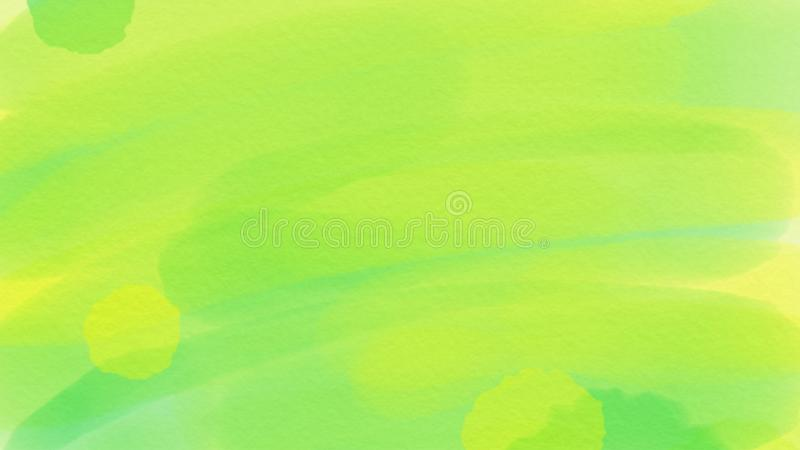 Awesome abstract watercolor green background for webdesign, colorful background, blurred, wallpaper royalty free illustration