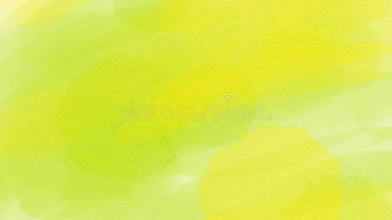 Awesome abstract watercolor green and yellow background for webdesign, colorful background, blurred, wallpaper vector illustration