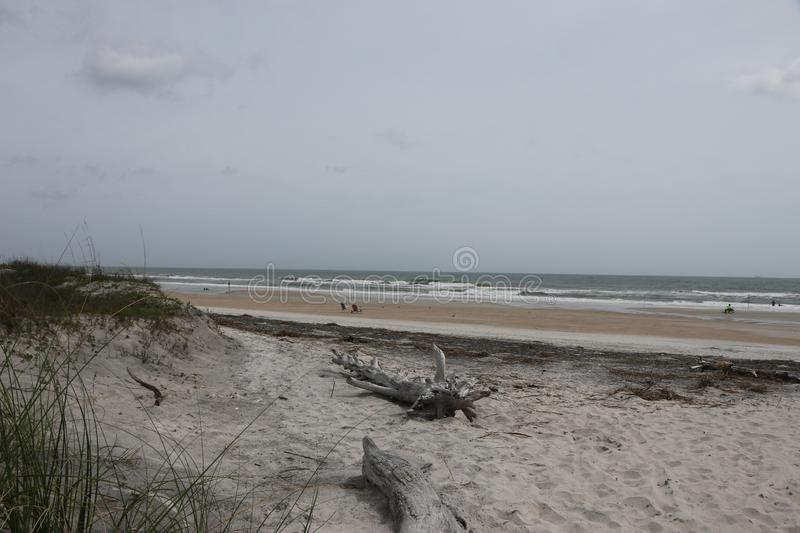 An awesome beach day royalty free stock photo