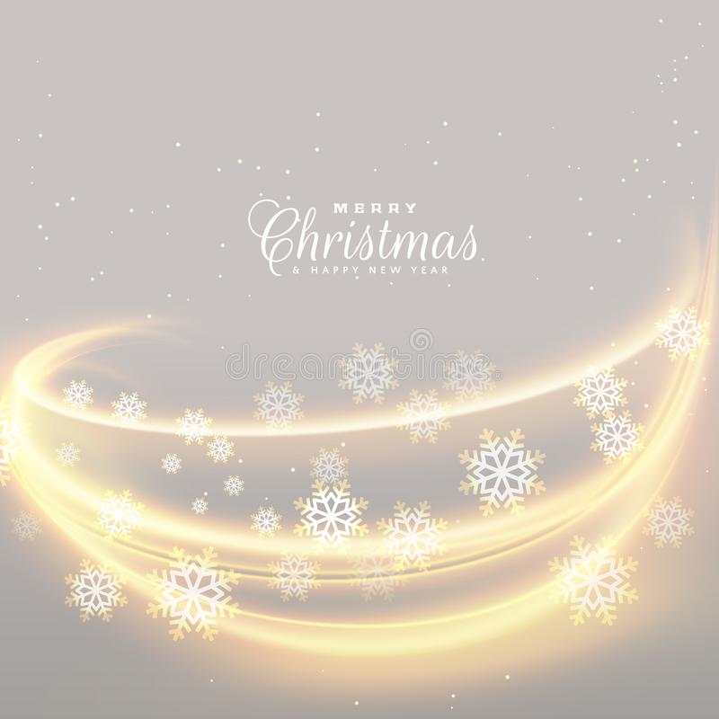 Awesome christmas lights with snowflakes background royalty free illustration