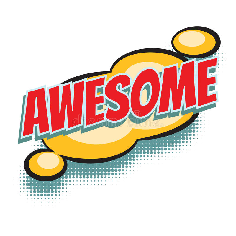 Awesome comic word. Pop art retro vector illustration vector illustration