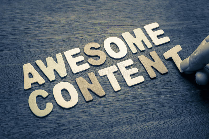 Awesome Content royalty free stock photo