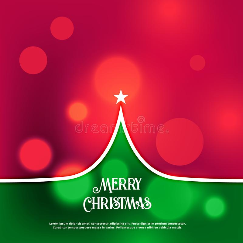 Awesome creative christmas tree design greeting. Illustration royalty free illustration