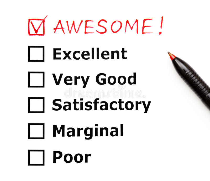 Awesome Customer Evaluation Form Royalty Free Stock Photography