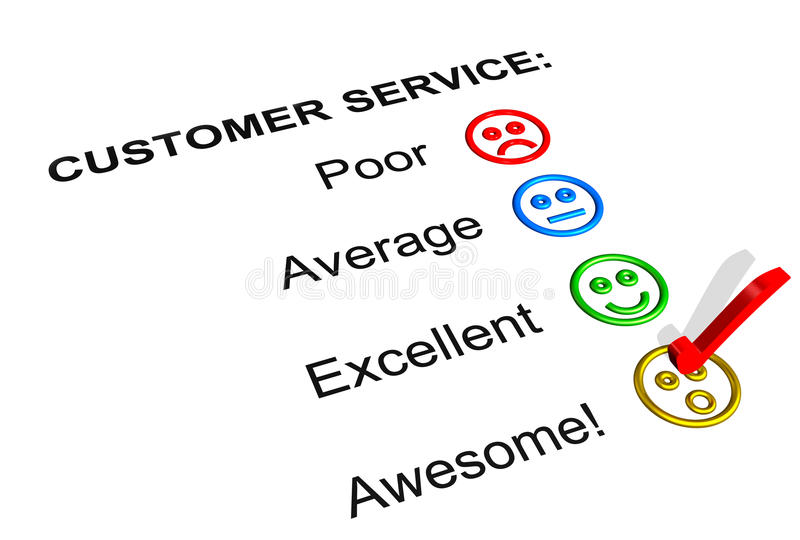 Download Awesome Customer Service  Rating Royalty Free Stock Photography - Image: 17177947