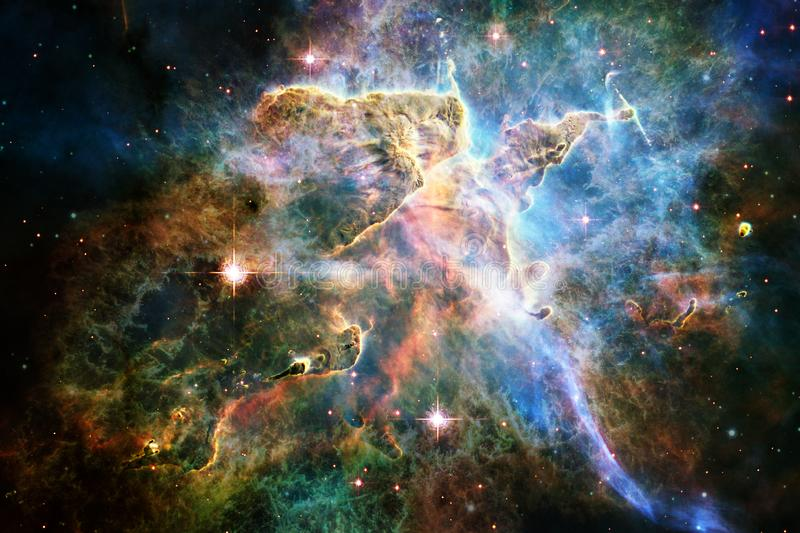 Awesome of deep space. Billions of galaxies in the universe. Elements of this image furnished by NASA royalty free illustration