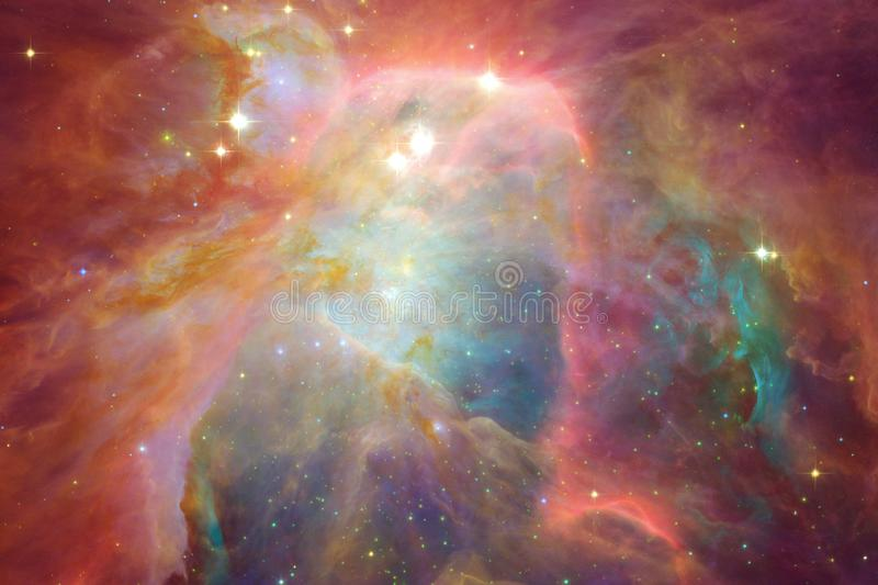 Awesome of deep space. Billions of galaxies in the universe. Elements of this image furnished by NASA vector illustration