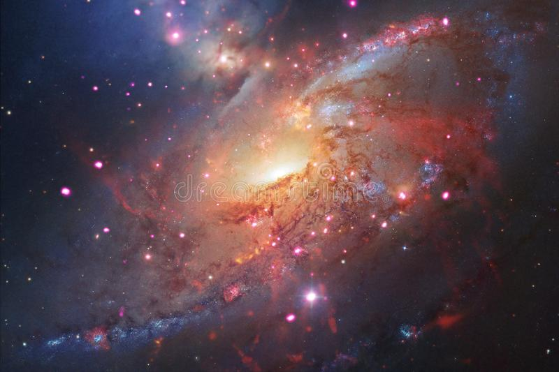 Awesome of deep space. Billions of galaxies in the universe. Elements of this image furnished by NASA stock illustration