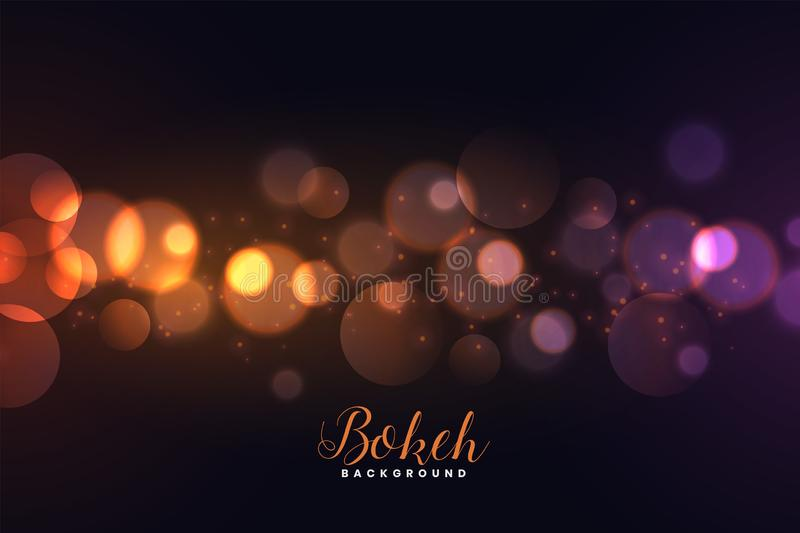 Awesome defocused bokeh lights background royalty free illustration