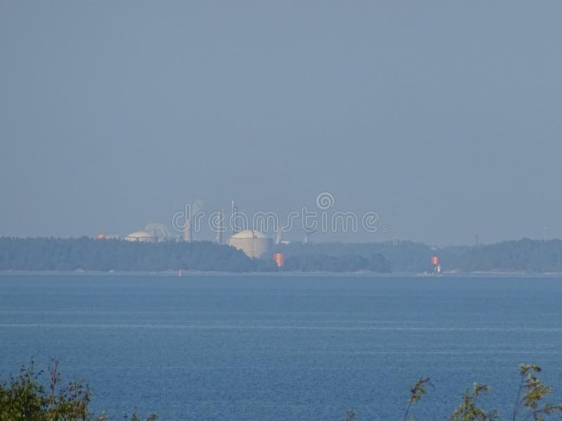 A awesome dream sight in archipelago by the gulf of Finland stock photo