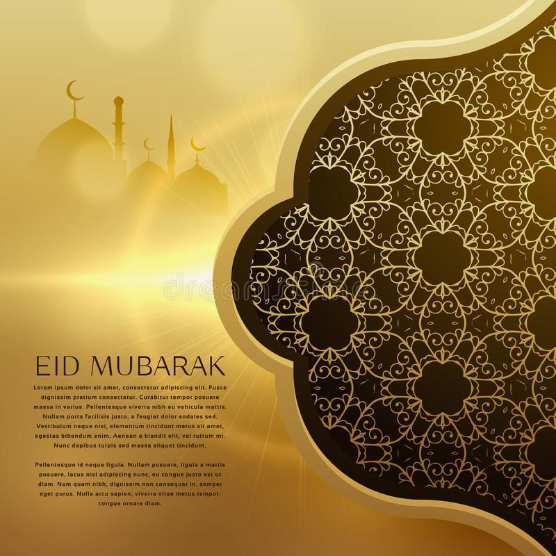 Awesome eid festival background with islamic pattern design stock illustration