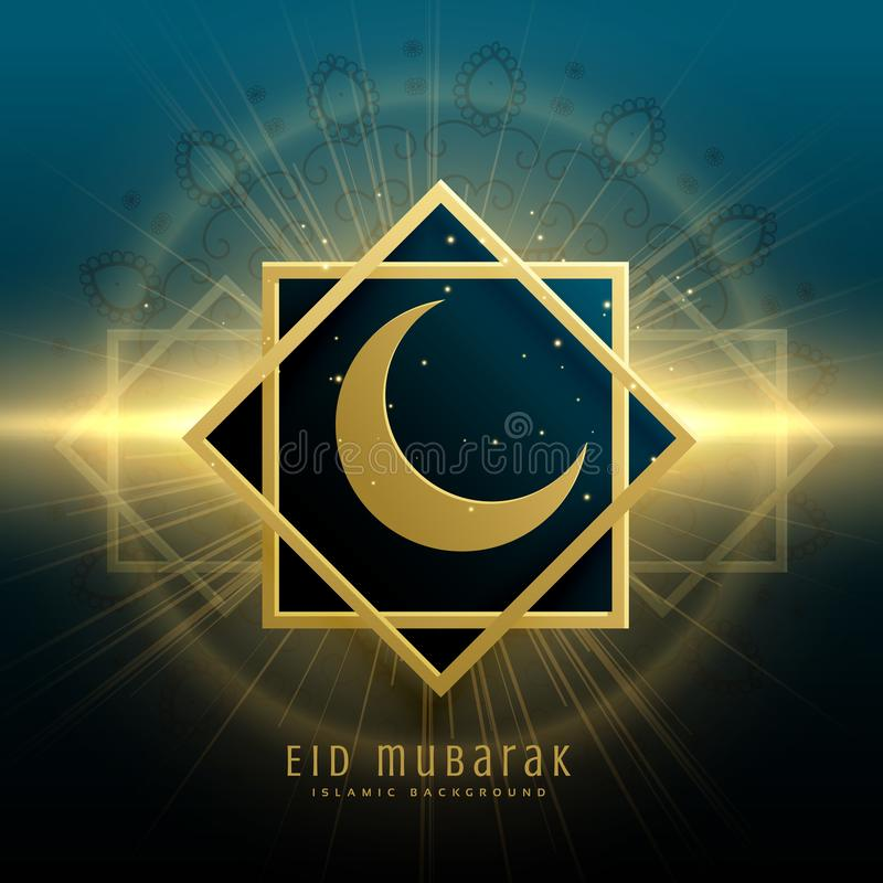 Awesome eid mubrak festival greeting background design vector illustration
