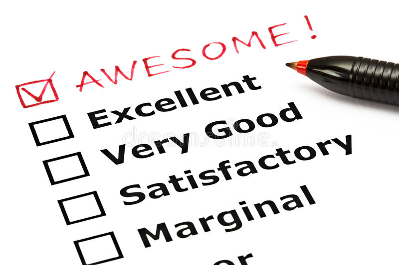 Download Awesome evaluation form stock photo. Image of client - 26618770