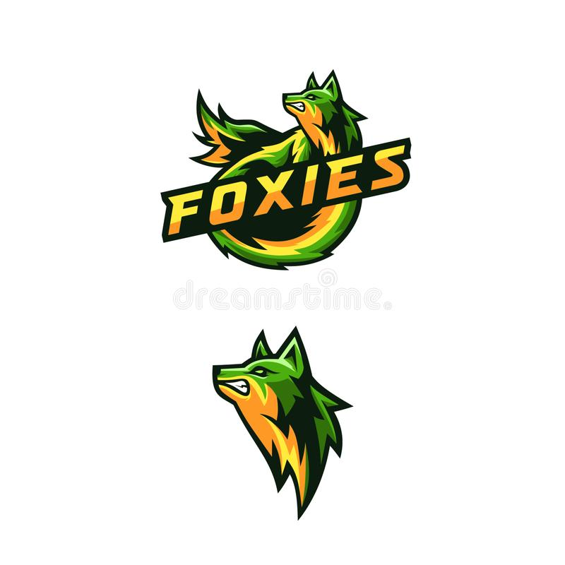 Awesome foxies logo stock illustration
